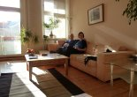 At home in Tegel (leaked from our forthcoming Hello! Magazine feature).