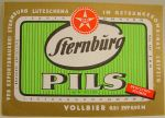 Sternburg bottle label from GDR era.