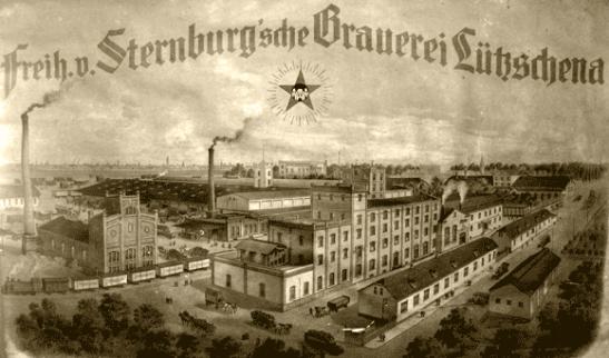 Freiherrlich v. Sternburg'sche Brauerei, Lützschena, 1882.