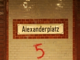 Alex U-Bahn Sign