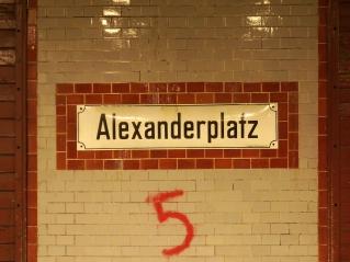 Alex U-Bahn Sign