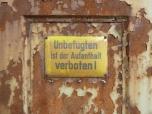 Ferropolis warning