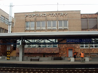 Arriving at Poprad railway station