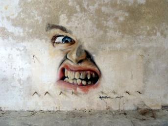 Sports hall graffiti